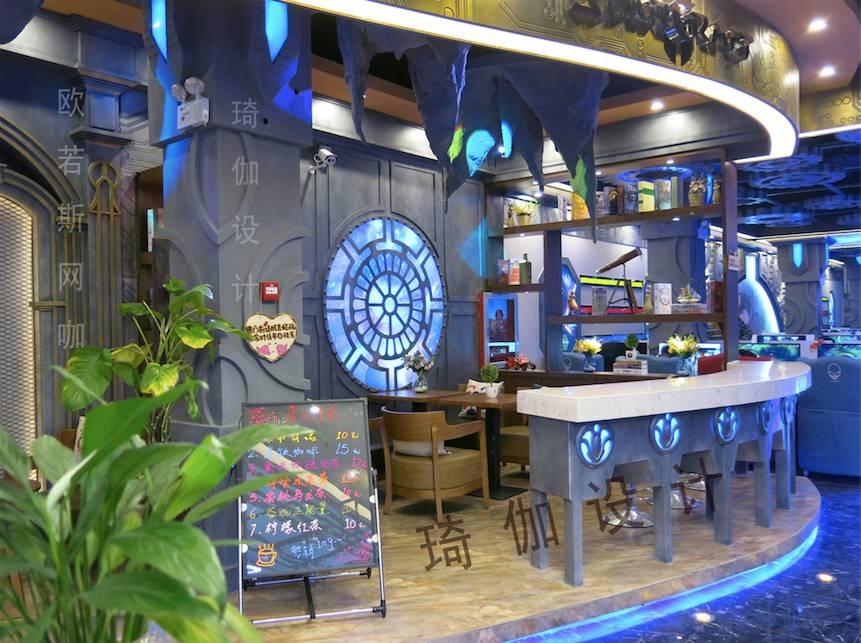 网吧大厅设计装修效果图3
