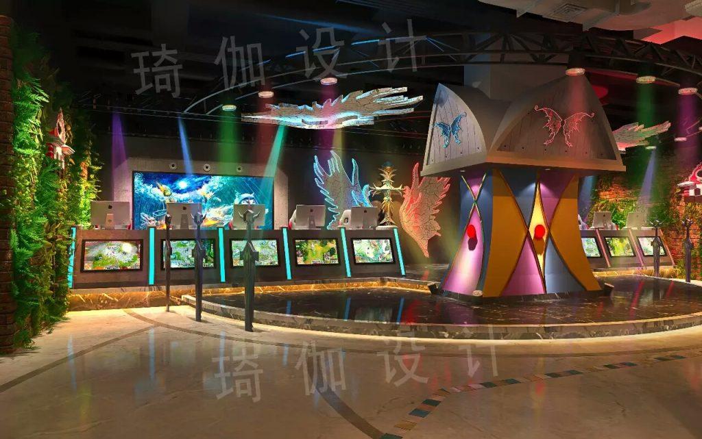 网吧大厅设计装修效果图4