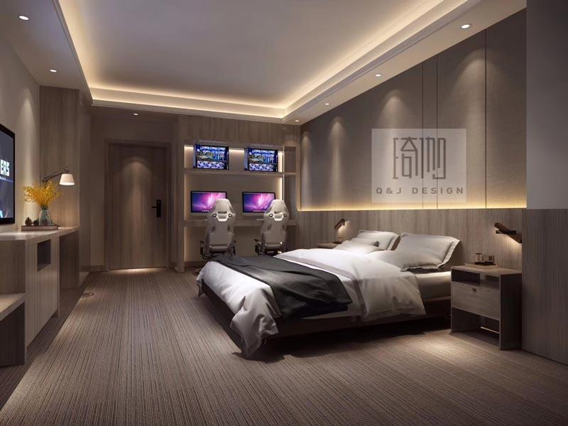 成都贝壳电竞酒店房间设计图