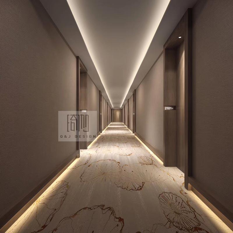 成都贝壳电竞酒店过道设计图