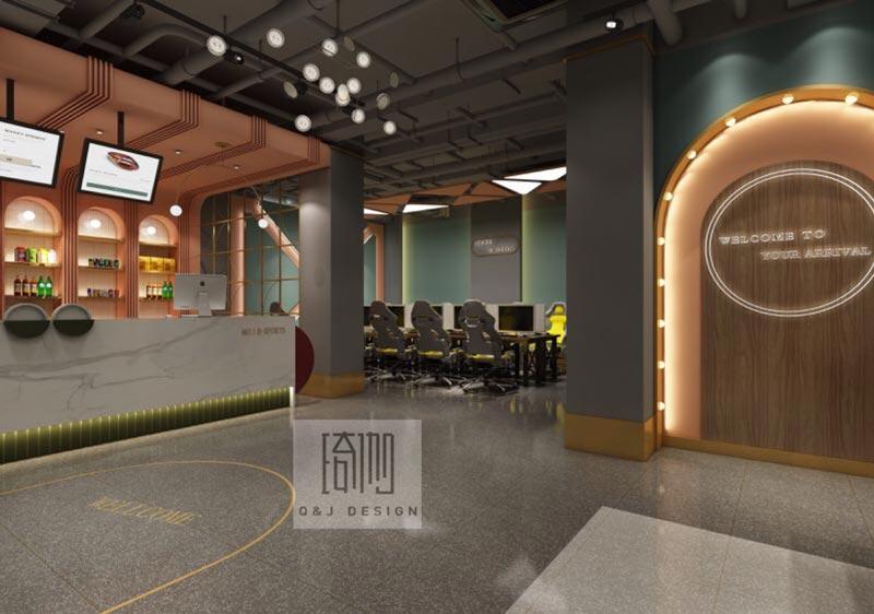 北辰网咖吧台装修设计效果图