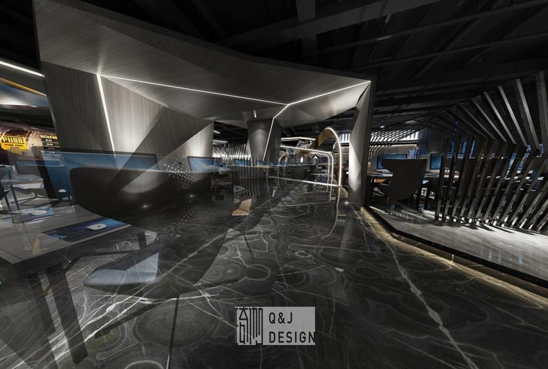 成都噼噼啪啪网咖三店大厅装修设计效果图