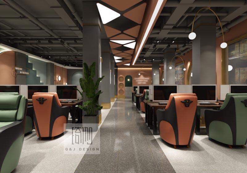 北辰网咖室内装修设计效果图