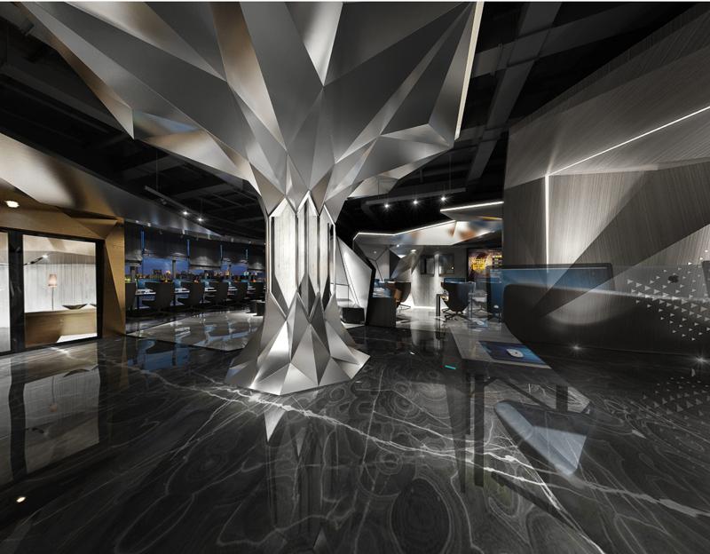成都噼噼啪啪网咖三店大厅装修设计效果图2