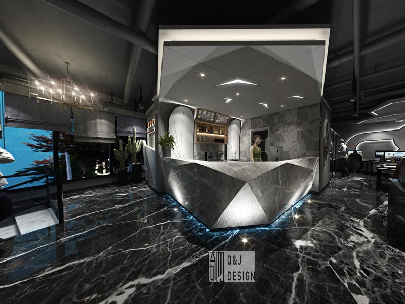 超前电竞馆吧台装修设计效果图赏析