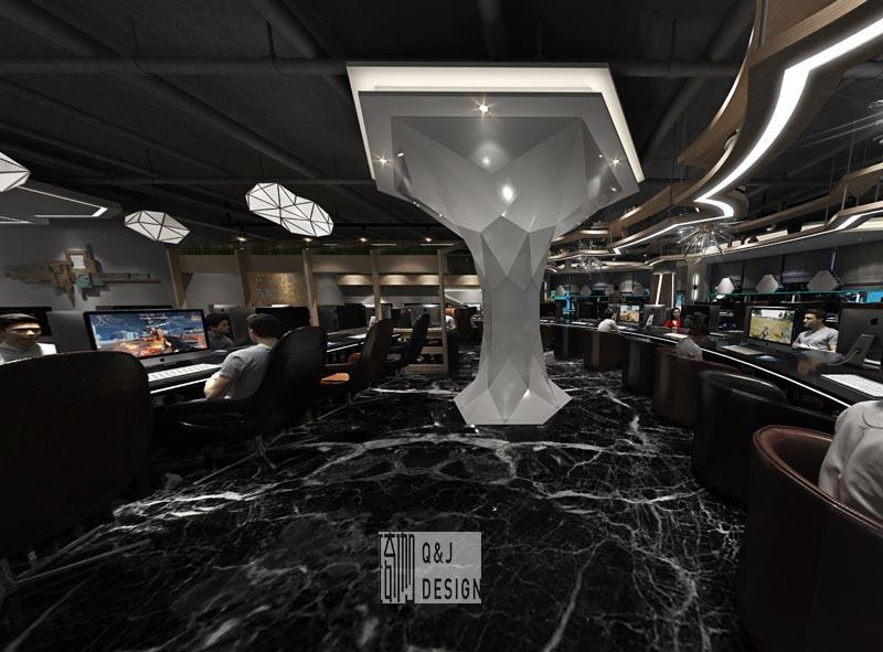 超前电竞馆大厅装修设计效果图赏析