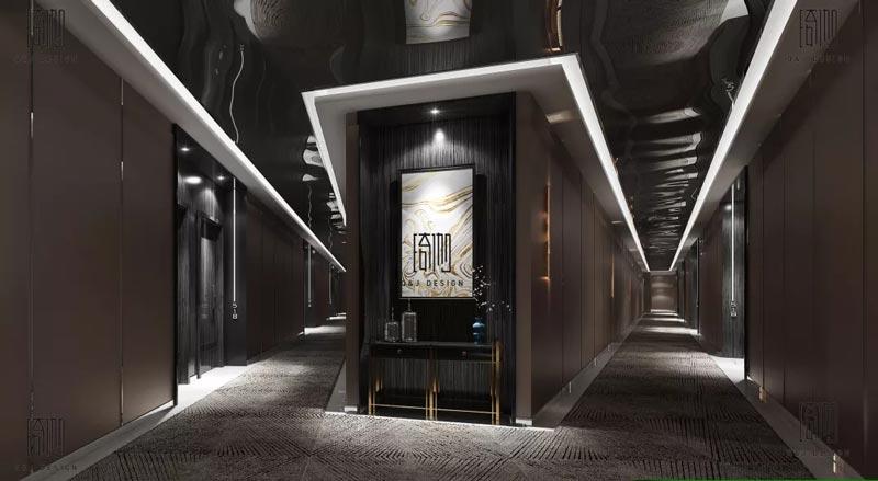 觅世电竞酒店走廊装修设计效果图