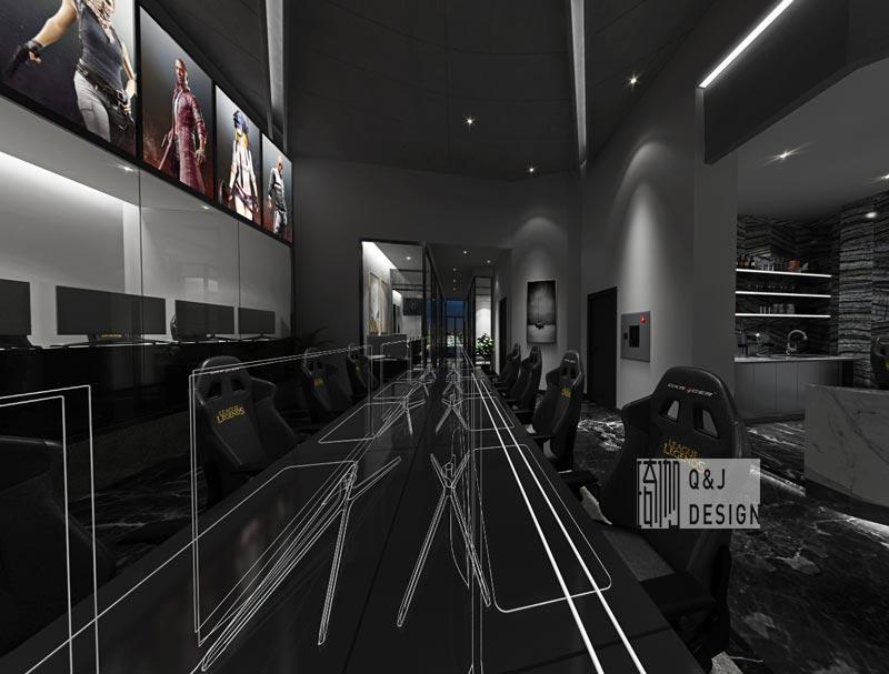 重庆电竞网咖大厅装修设计效果图2
