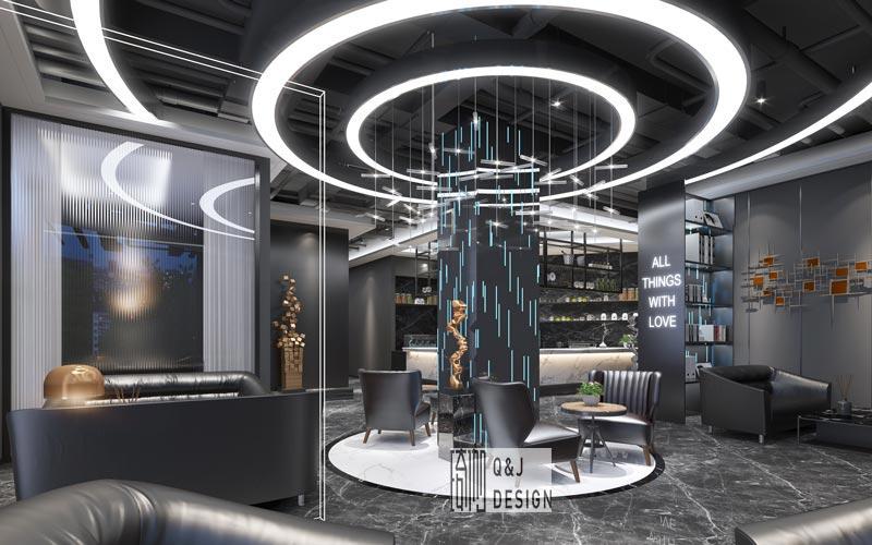 大咖网吧休闲区装修设计效果图