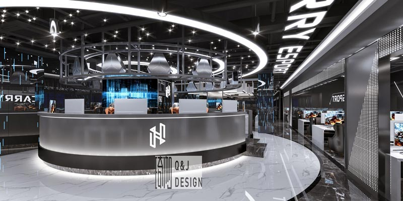 大咖网吧吧台装修设计效果图