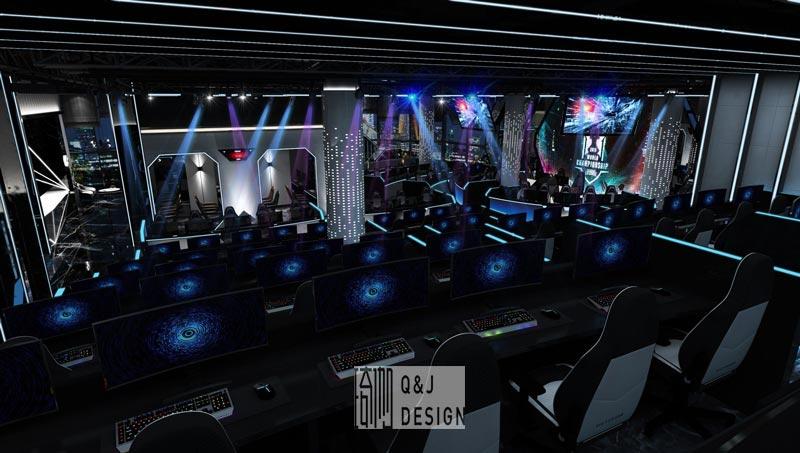 高端网咖大厅设计效果图2