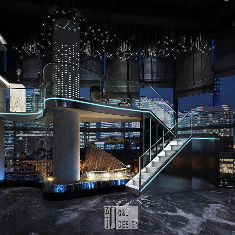 高端网咖楼梯设计图