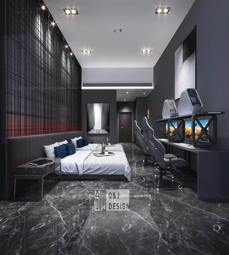 重庆电竞酒店装修效果图2
