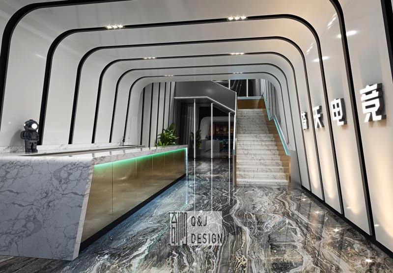 湖南电竞酒店装修效果图1